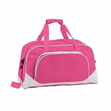 Goedkope fuchsia roze weekendtas/schooltas 42