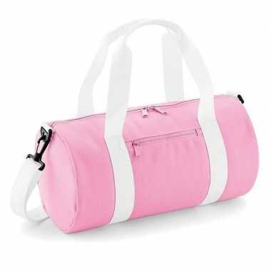Goedkope roze weekendtas/weekendtas 12 liter meisjes