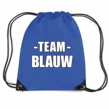 Sportdag team blauw rugtas weekendtas