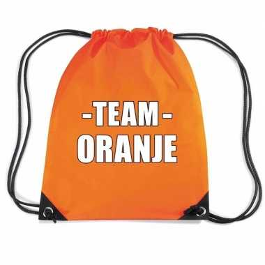 Goedkope sportdag team oranje rugtas/ weekendtas