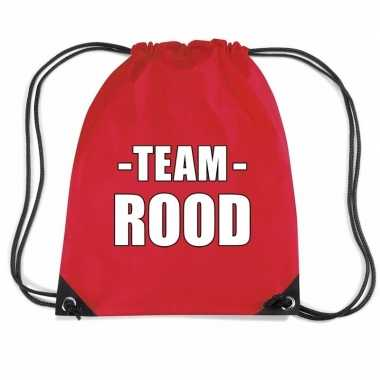 Goedkope sportdag team rood rugtas/ weekendtas