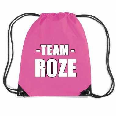 Goedkope sportdag team roze rugtas/ weekendtas