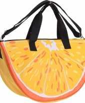 Strandtas weekendtas sinaasappel 32 50